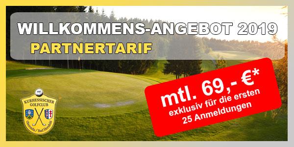 Kurhessischer Golfclub Willkommens Angebot Partnertarif